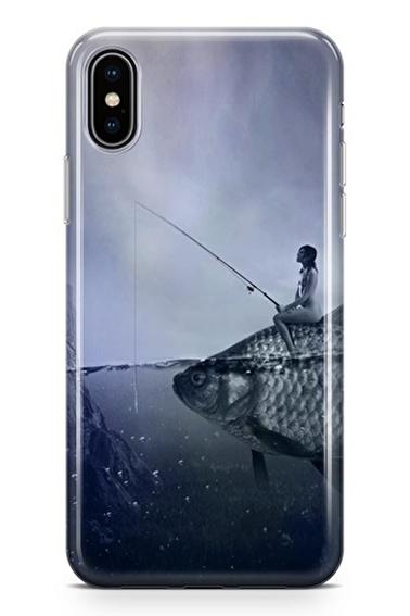Lopard iPhone Xs Max Kılıf Silikon Arka Kapak Koruyucu Balıkçı Kız Desenli Full HD Baskılı Renkli